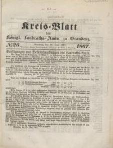 Kreis Blatt des Königlichen Landraths-Amts zu Graudenz 1867.06.28 nr 26