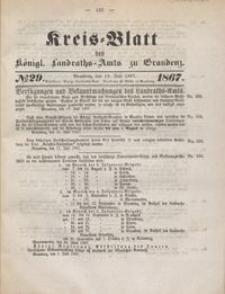 Kreis Blatt des Königlichen Landraths-Amts zu Graudenz 1867.07.19 nr 29