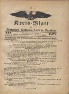 Kreis Blatt des Königlichen Landraths-Amts zu Graudenz 1872.02.16 nr 7