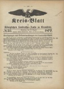 Kreis Blatt des Königlichen Landraths-Amts zu Graudenz 1872.08.30 nr 35