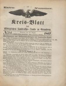 Kreis Blatt des Königlichen Landraths-Amts zu Graudenz 1867.08.20 nr 34 (extra numer)