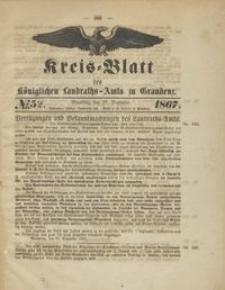 Kreis Blatt des Königlichen Landraths-Amts zu Graudenz 1867.12.27 nr 52