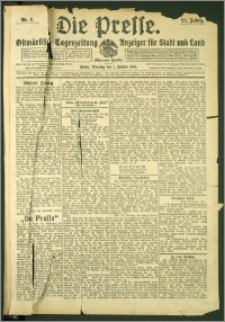 Die Presse 1907, Jg. 25, Nr. 1 Zweites Blatt