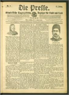 Die Presse 1907, Jg. 25, Nr. 9 Zweites Blatt