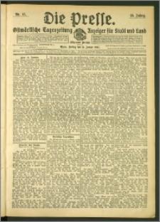 Die Presse 1907, Jg. 25, Nr. 15 Zweites Blatt