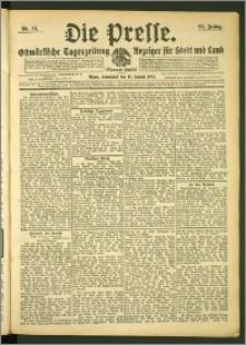 Die Presse 1907, Jg. 25, Nr. 16 Zweites Blatt