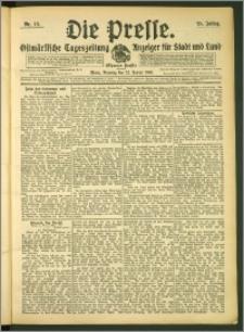Die Presse 1907, Jg. 25, Nr. 18 Zweites Blatt + Beilagenwerbung, Extrablatt