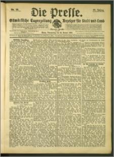 Die Presse 1907, Jg. 25, Nr. 26 Zweites Blatt