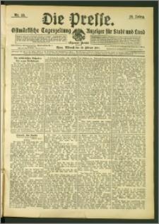 Die Presse 1907, Jg. 25, Nr. 43 Zweites Blatt