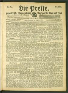 Die Presse 1907, Jg. 25, Nr. 44 Zweites Blatt + Beilagenwerbung