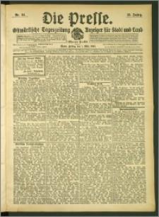 Die Presse 1907, Jg. 25, Nr. 51 Zweites Blatt