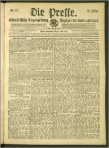 Die Presse 1907, Jg. 25, Nr. 115 Zweites Blatt