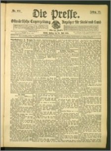 Die Presse 1907, Jg. 25, Nr. 173 Zweites Blatt