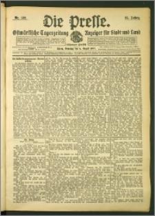 Die Presse 1907, Jg. 25, Nr. 182 Zweites Blatt