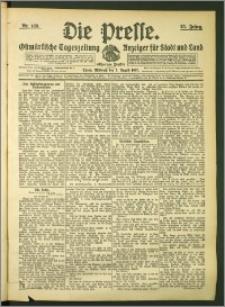Die Presse 1907, Jg. 25, Nr. 183 Zweites Blatt