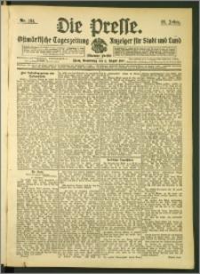 Die Presse 1907, Jg. 25, Nr. 184 Zweites Blatt