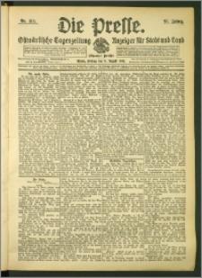 Die Presse 1907, Jg. 25, Nr. 185 Zweites Blatt + Beilagenwerbung