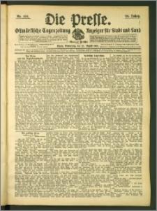 Die Presse 1907, Jg. 25, Nr. 196 Zweites Blatt