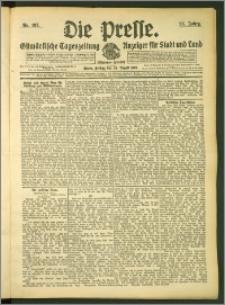 Die Presse 1907, Jg. 25, Nr. 197 Zweites Blatt