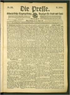Die Presse 1907, Jg. 25, Nr. 200 Zweites Blatt