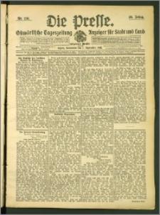 Die Presse 1907, Jg. 25, Nr. 210 Zweites Blatt