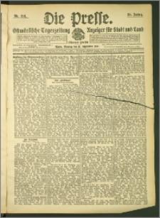 Die Presse 1907, Jg. 25, Nr. 218 Zweites Blatt