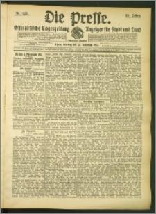 Die Presse 1907, Jg. 25, Nr. 225 Zweites Blatt