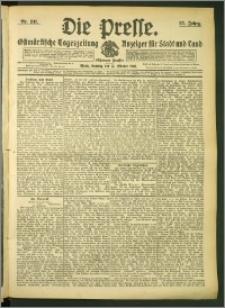 Die Presse 1907, Jg. 25, Nr. 241 Zweites Blatt, Drittes Blatt, Viertes Blatt