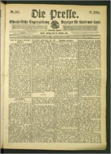 Die Presse 1907, Jg. 25, Nr. 248 Zweites Blatt
