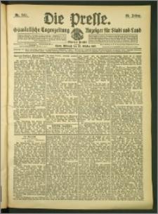 Die Presse 1907, Jg. 25, Nr. 249 Zweites Blatt