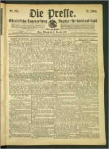 Die Presse 1907, Jg. 25, Nr. 296 Zweites Blatt, Drittes Blatt