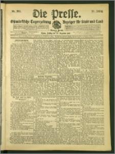 Die Presse 1907, Jg. 25, Nr. 298 Zweites Blatt, Drittes Blatt