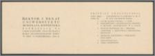 Rektor i Senat Uniwersytetu Mikołaja Kopernika zapraszają na uroczystość inauguracji roku akademickiego 1946/47 w dniu 19 października 1946 R.