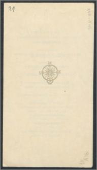 Rektor i Senat Uniwersytetu Mikołaja Kopernika zapraszają na uroczystość Inauguracji Roku Akademickiego 1963/64, która odbędzie się w Auli Collegium Maximum w dniu 1 października 1963 R. [...]