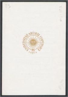 Rektor i Senat Uniwersytetu Mikołaja Kopernika w Toruniu zapraszają uprzejmie na Uroczystość Inauguracji Roku Akademickiego 1967/68, która odbędzie się w Auli Collegium Maximum w dniu 1 października 1967 R. [...]