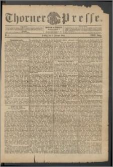 Thorner Presse 1904, Jg. XXII, Nr. 1 + 1. Beilage, 2. Beilage