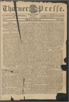 Thorner Presse 1906, Jg. XXIV, Nr. 1 + Beilage