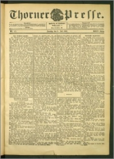 Thorner Presse 1906, Jg. XXIV, Nr. 157 + 1. Beilage, 2. Beilage