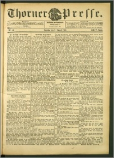 Thorner Presse 1906, Jg. XXIV, Nr. 181 + 1. Beilage, 2. Beilage