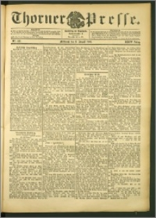 Thorner Presse 1906, Jg. XXIV, Nr. 183 + Beilage