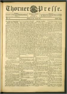 Thorner Presse 1906, Jg. XXIV, Nr. 187 + 1. Beilage, 2. Beilage