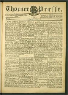Thorner Presse 1906, Jg. XXIV, Nr. 188 + Beilage