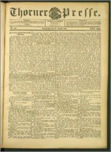 Thorner Presse 1906, Jg. XXIV, Nr. 190 + Beilage