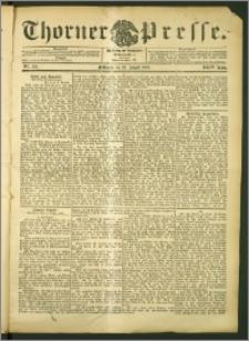 Thorner Presse 1906, Jg. XXIV, Nr. 195 + Beilage