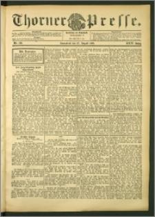 Thorner Presse 1906, Jg. XXIV, Nr. 198 + Beilage