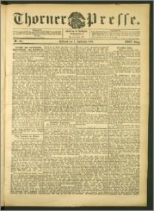 Thorner Presse 1906, Jg. XXIV, Nr. 207 + Beilage