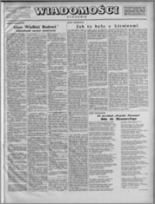 Wiadomości, R. 2, nr 33 (72), 1947