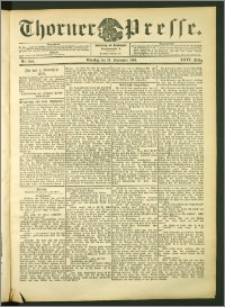 Thorner Presse 1906, Jg. XXIV, Nr. 224 + Beilage