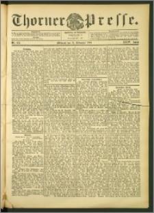 Thorner Presse 1906, Jg. XXIV, Nr. 273 + Beilage