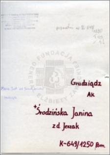 Środzińska Janina